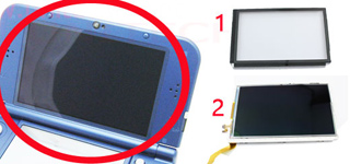 3D Display oben New Nintendo 3DS XL Reparatur
