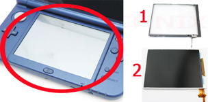 Display Touchscreen unten New Nintendo 3DS XL Reparatur